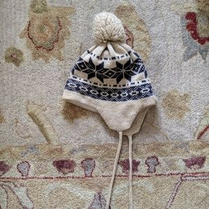 Vintage Knit Wool Ski Hat